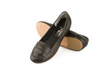 Fringed leather loafer...