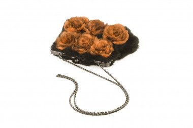 Rabbit fur handbag Kontessa...