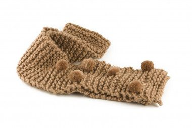 Knit pom pom scarf Passigatti