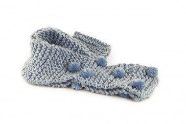 Sciarpa di maglia con pon pon Passigatti