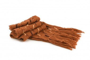 Sciarpa di maglia con frange Passigatti