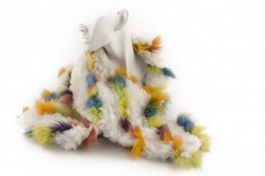 Knit rabbit and blue fox...
