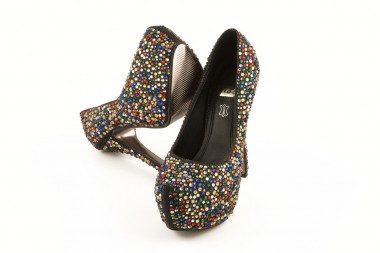 Black high heel and...