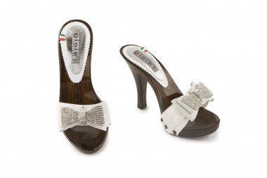 Rhinestone high heel clog...