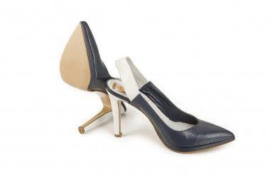 Slingback high heel leather...